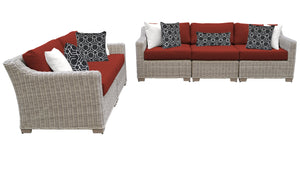 Coast 5 Piece Outdoor Wicker Patio Furniture Set 05a