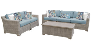 Coast 6 Piece Outdoor Wicker Patio Furniture Set 06p