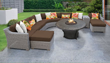 Load image into Gallery viewer, Coast 11 Piece Outdoor Wicker Patio Furniture Set 11f