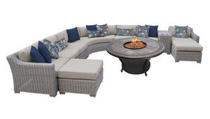 Coast 11 Piece Outdoor Wicker Patio Furniture Set 11h