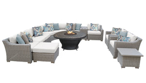 Coast 12 Piece Outdoor Wicker Patio Furniture Set 12d