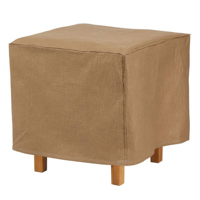 Duck Covers Essential Water Resistant 22 Inch Square Patio Ottoman Side Table Cover