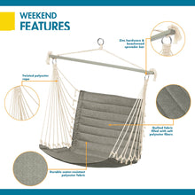 Load image into Gallery viewer, Weekend 27 Inch Quilted Hammock Chair, Moon Rock