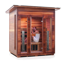 Load image into Gallery viewer, Enlighten RUSTIC - 4 Person Slope Full Spectrum Infrared Sauna - Kaso Saunas