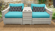 Load image into Gallery viewer, Fairmont 3 Piece Outdoor Wicker Patio Furniture Set 03b
