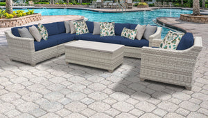 Fairmont 8 Piece Outdoor Wicker Patio Furniture Set 08d