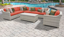 Load image into Gallery viewer, Fairmont 8 Piece Outdoor Wicker Patio Furniture Set 08d