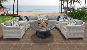 Fairmont 8 Piece Outdoor Wicker Patio Furniture Set 08i