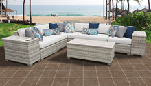 Load image into Gallery viewer, Fairmont 9 Piece Outdoor Wicker Patio Furniture Set 09b