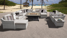 Load image into Gallery viewer, Fairmont 17 Piece Outdoor Wicker Patio Furniture Set 17b