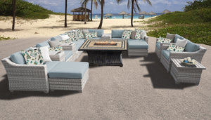 Fairmont 17 Piece Outdoor Wicker Patio Furniture Set 17b