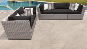 Florence 5 Piece Outdoor Wicker Patio Furniture Set 05a