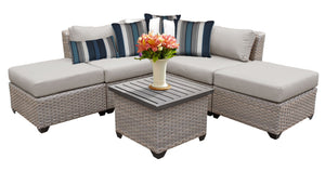 Florence 6 Piece Outdoor Wicker Patio Furniture Set 06f