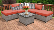 Load image into Gallery viewer, Florence 6 Piece Outdoor Wicker Patio Furniture Set 06f