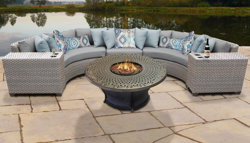 Florence 6 Piece Outdoor Wicker Patio Furniture Set 06i