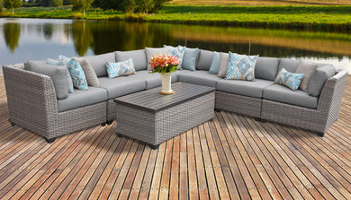 Florence 8 Piece Outdoor Wicker Patio Furniture Set 08a