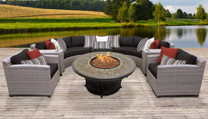 Florence 8 Piece Outdoor Wicker Patio Furniture Set 08f