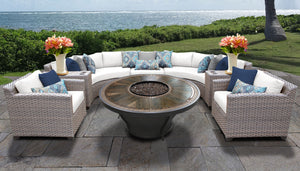Florence 8 Piece Outdoor Wicker Patio Furniture Set 08k