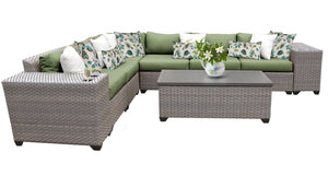 Florence 9 Piece Outdoor Wicker Patio Furniture Set 09b