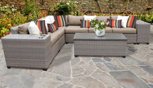 Load image into Gallery viewer, Florence 9 Piece Outdoor Wicker Patio Furniture Set 09b