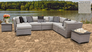 Florence 9 Piece Outdoor Wicker Patio Furniture Set 09c