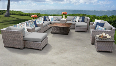 Florence 17 Piece Outdoor Wicker Patio Furniture Set 17c