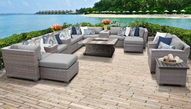 Florence 17 Piece Outdoor Wicker Patio Furniture Set 17d