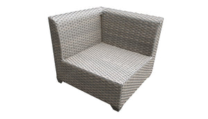 Florence 4 Piece Outdoor Wicker Patio Furniture Set 04d
