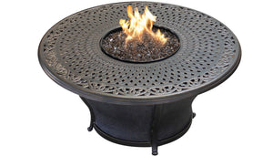Charleston 48 Inch Round Cast Top Fire Pit