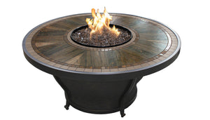 Huntington 48 Inch Round Porcelain Top Fire Pit