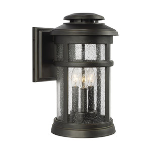 Feiss Newport 15 Inch Tall 3 Light Outdoor Wall Light by Generation Lighting