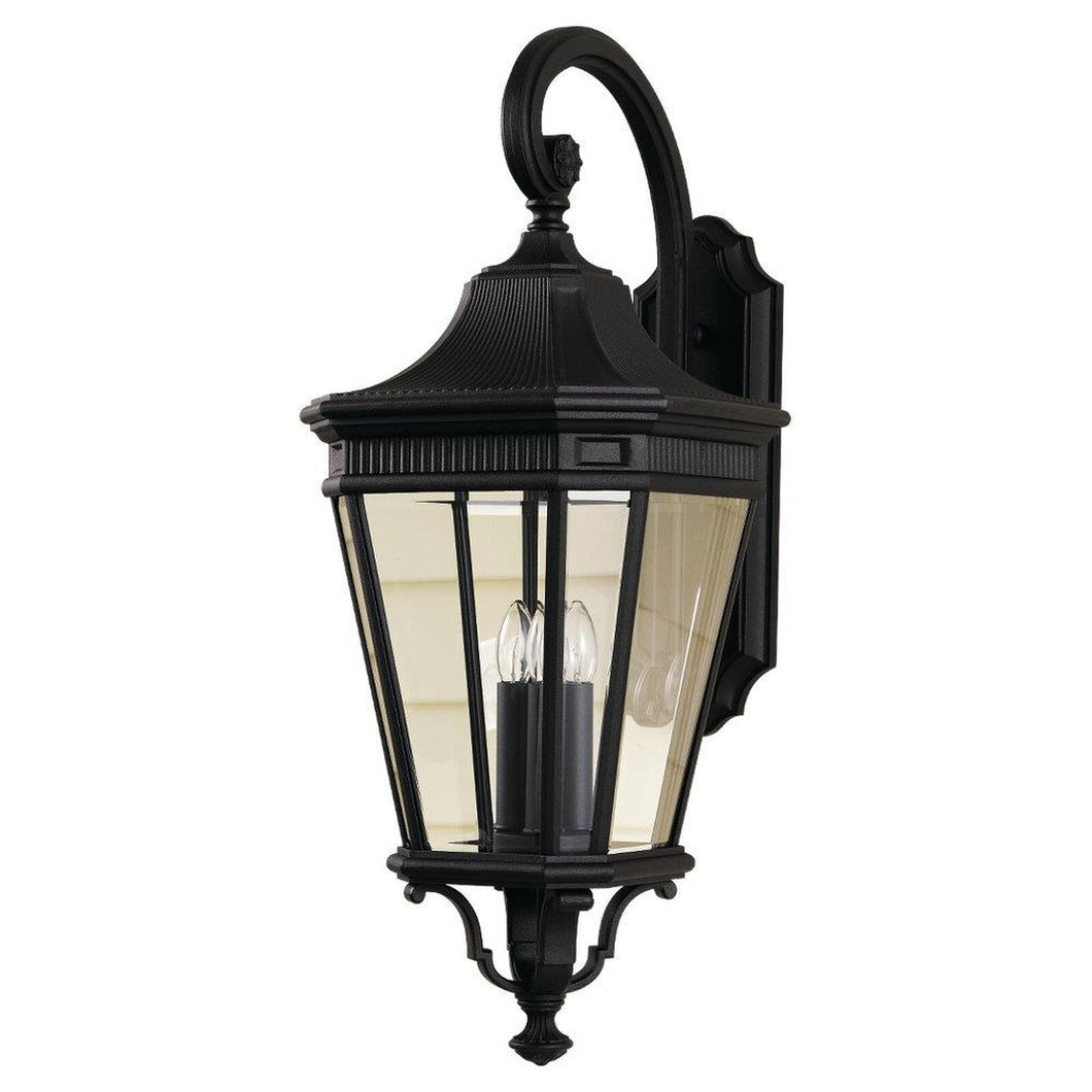 Feiss Cotswold Lane 30 Inch Tall 3 Light Outdoor Wall Light by Generation Lighting