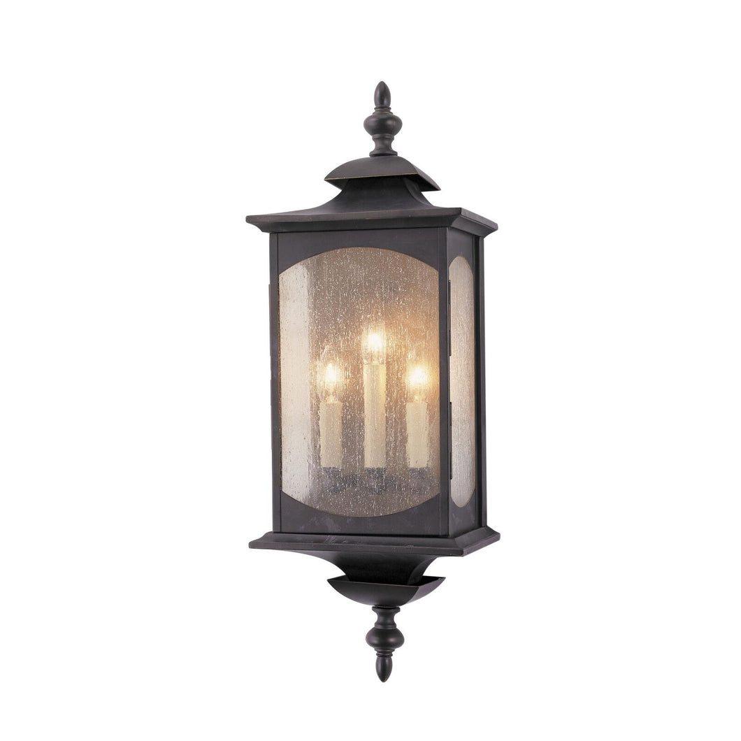 Feiss Market Square 25 Inch Tall 3 Light Outdoor Wall Light by Generation Lighting