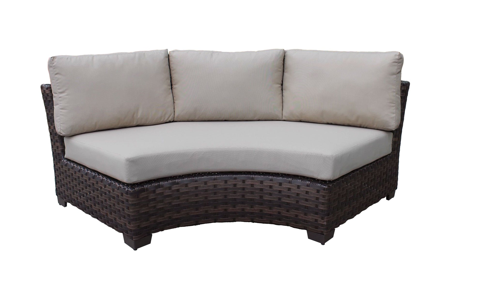 River Brook Curved Armless Sofa