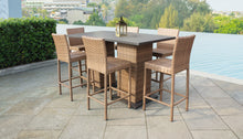 Load image into Gallery viewer, Laguna Pub Table Set With Barstools 8 Piece Outdoor Wicker Patio Furniture