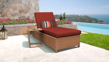 Load image into Gallery viewer, Laguna Wheeled Chaise Outdoor Wicker Patio Furniture and Side Table