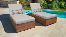 Load image into Gallery viewer, Laguna Wheeled Chaise Set of 2 Outdoor Wicker Patio Furniture