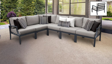Lexington 6 Piece Outdoor Aluminum Patio Furniture Set 06v
