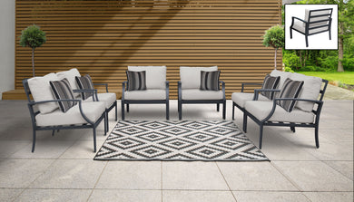Lexington 6 Piece Outdoor Aluminum Patio Furniture Set 06w