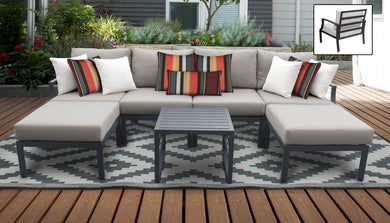 Lexington 7 Piece Outdoor Aluminum Patio Furniture Set 07a