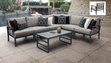 Lexington 7 Piece Outdoor Aluminum Patio Furniture Set 07b