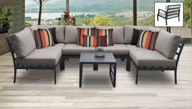 Lexington 7 Piece Outdoor Aluminum Patio Furniture Set 07c