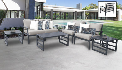 Lexington 7 Piece Outdoor Aluminum Patio Furniture Set 07d