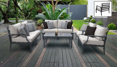 Lexington 7 Piece Outdoor Aluminum Patio Furniture Set 07e