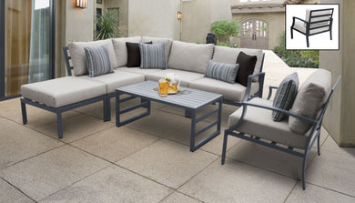 Lexington 7 Piece Outdoor Aluminum Patio Furniture Set 07f