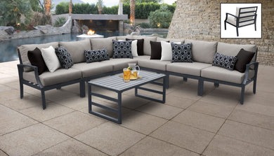 Lexington 8 Piece Outdoor Aluminum Patio Furniture Set 08a