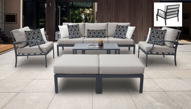 Lexington 8 Piece Outdoor Aluminum Patio Furniture Set 08c