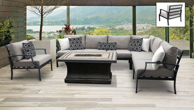 Lexington 8 Piece Outdoor Aluminum Patio Furniture Set 08f