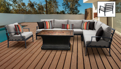 Lexington 8 Piece Outdoor Aluminum Patio Furniture Set 08g