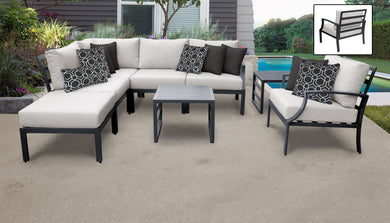 Lexington 8 Piece Outdoor Aluminum Patio Furniture Set 08m